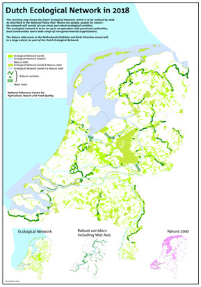 The network of ecological corridors in the Netherlands (from Hootsmans & Kampf)