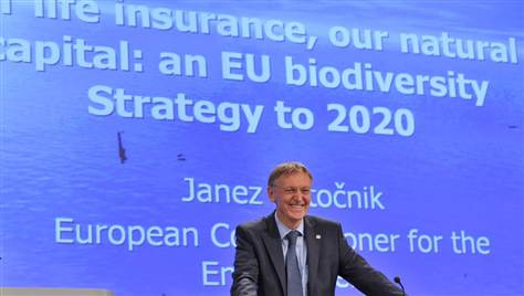 EU Environment Commissioner Janez Potocnik introducing the Biodiversity Strategy