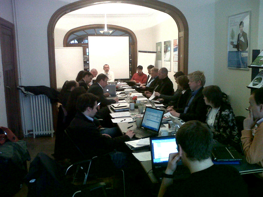 Executive Committee meeting, chaired by Ladislav Miko.