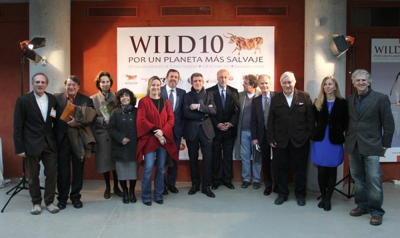 Some of the WILD10 team with official supporters. Vance Martin, Congress coordinator, President of WILD Foundation and Chair of IUCN Wilderness Task Force, is fourth from right.